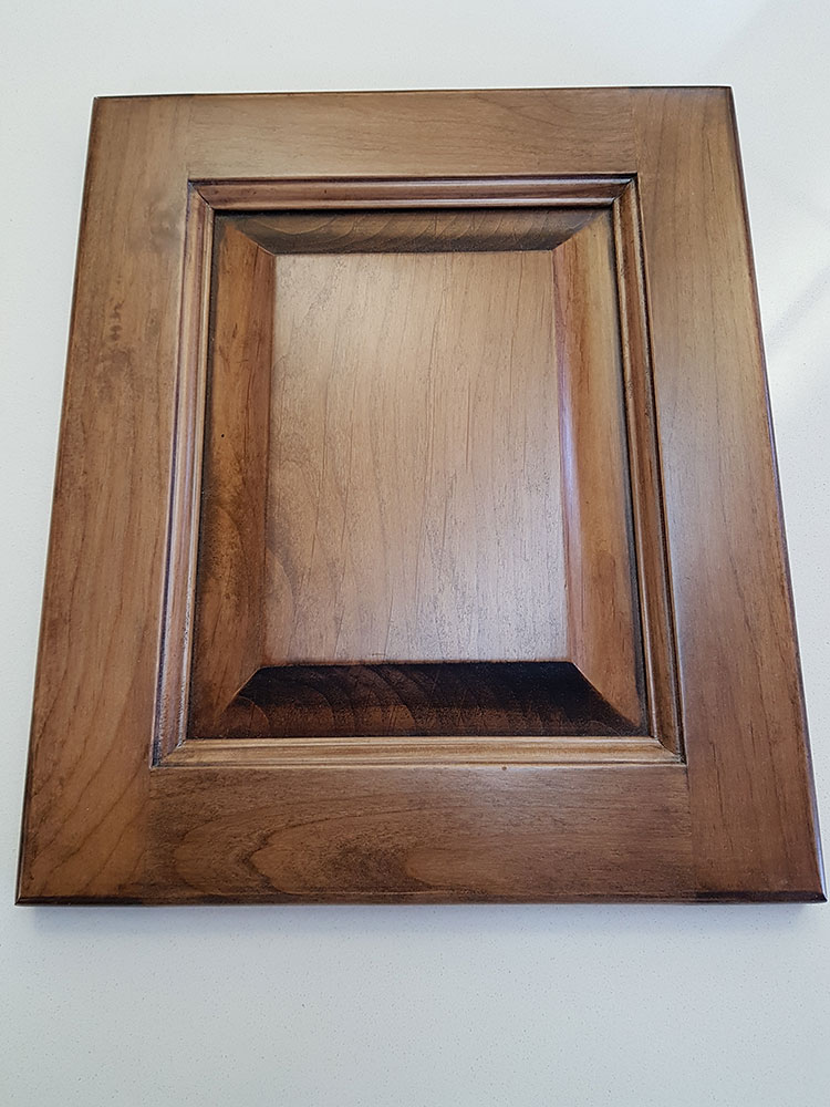 Alder, Raised Panel, Antique Toffee Finish