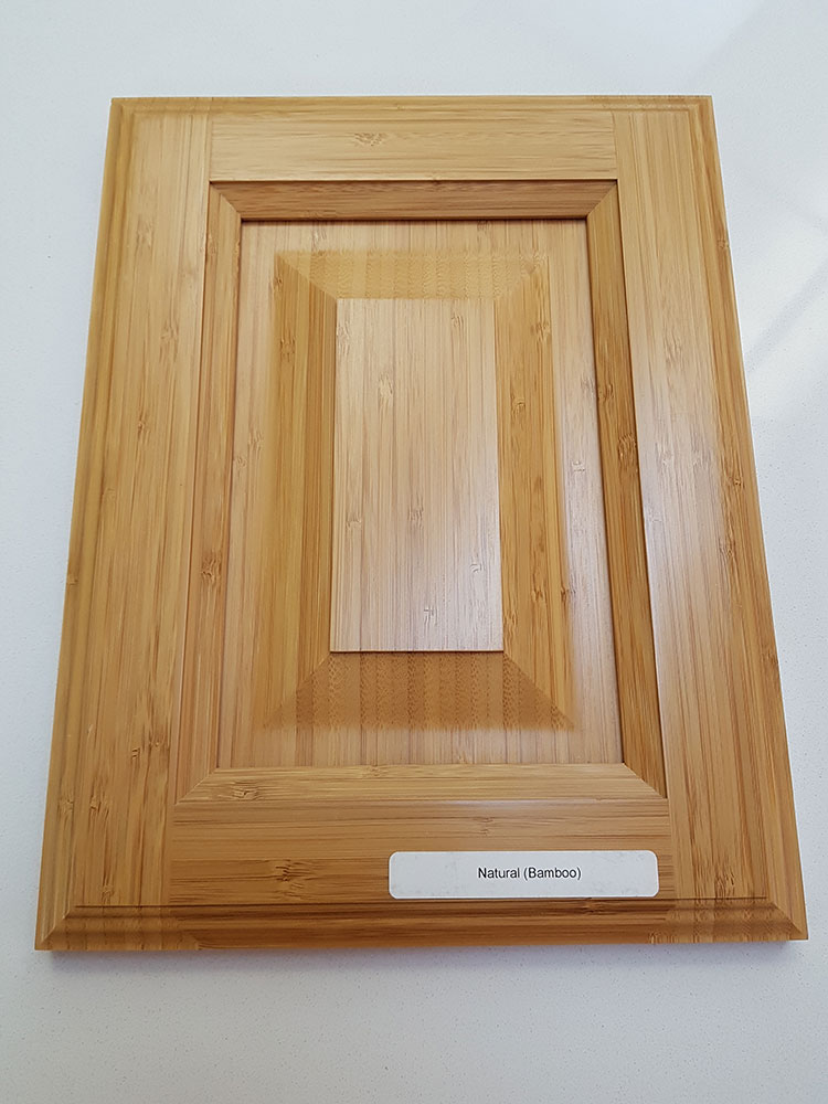 Bamboo, Raised Panel, Natural Finish